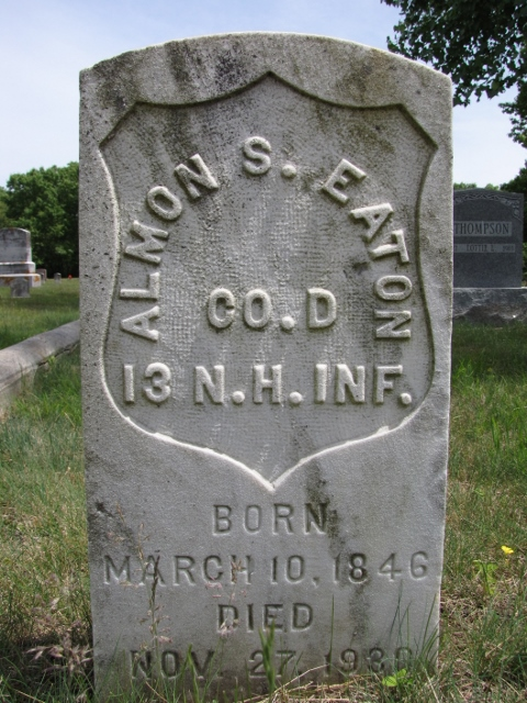 gravestone of Almon S Eaton
